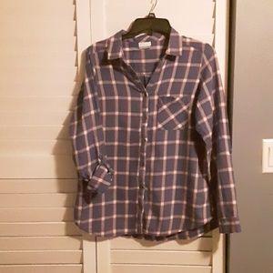 Womens Columbia LS tab shirt